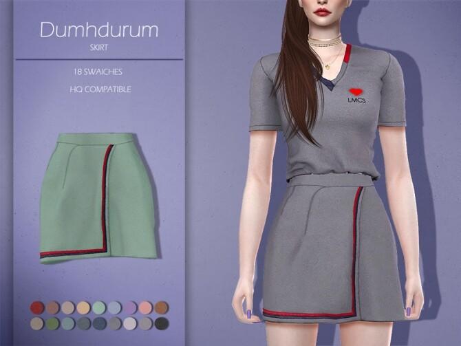 Sims 4 LMCS Dumhdurum Skirt by Lisaminicatsims at TSR