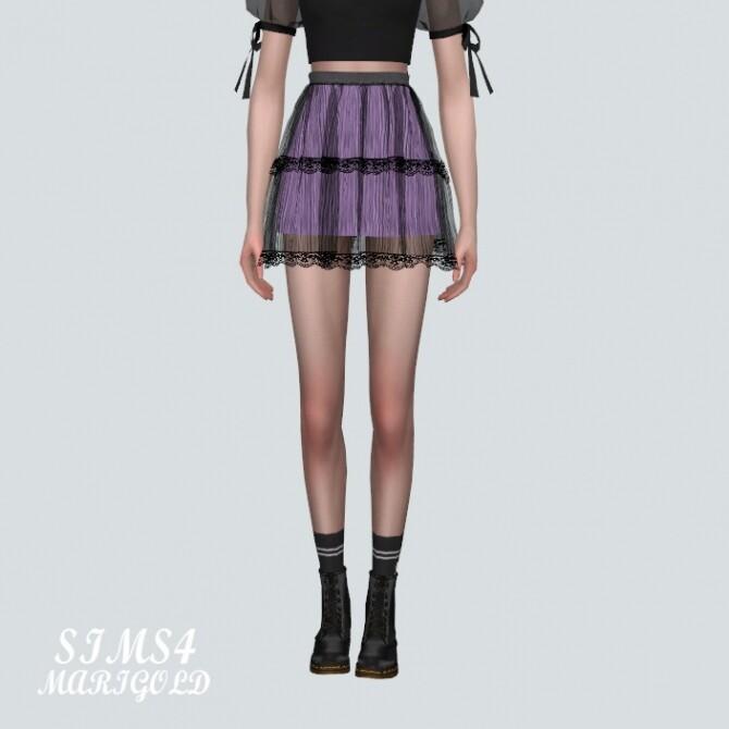 Lace Tiered Sha Mini Skirt at Marigold image Lace Tiered Sha Mini Skirt by Marigold 1 670x670 Sims 4 Updates