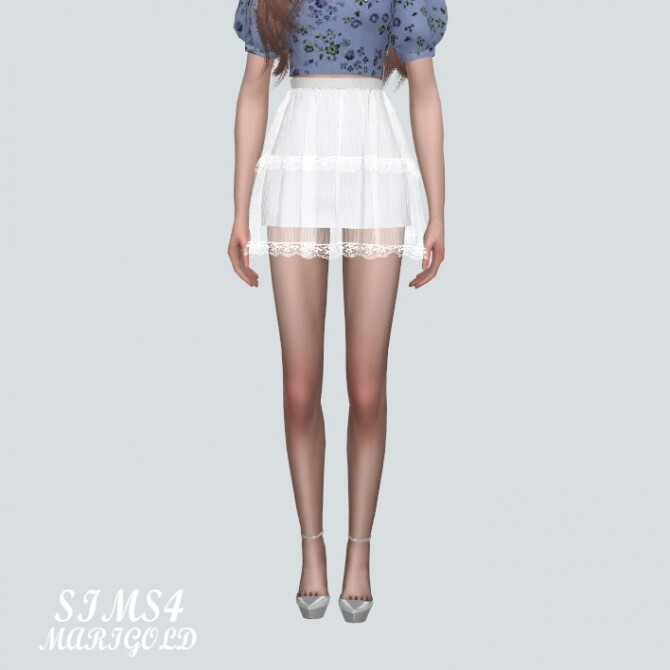 Lace Tiered Sha Mini Skirt at Marigold image Lace Tiered Sha Mini Skirt by Marigold 3 670x670 Sims 4 Updates