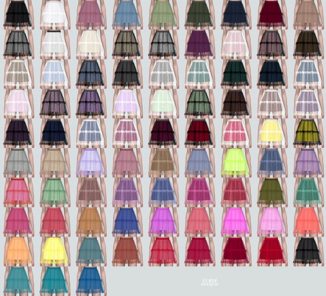 Lace Tiered Sha Mini Skirt at Marigold image Lace Tiered Sha Mini Skirt by Marigold 4 670x608 Sims 4 Updates