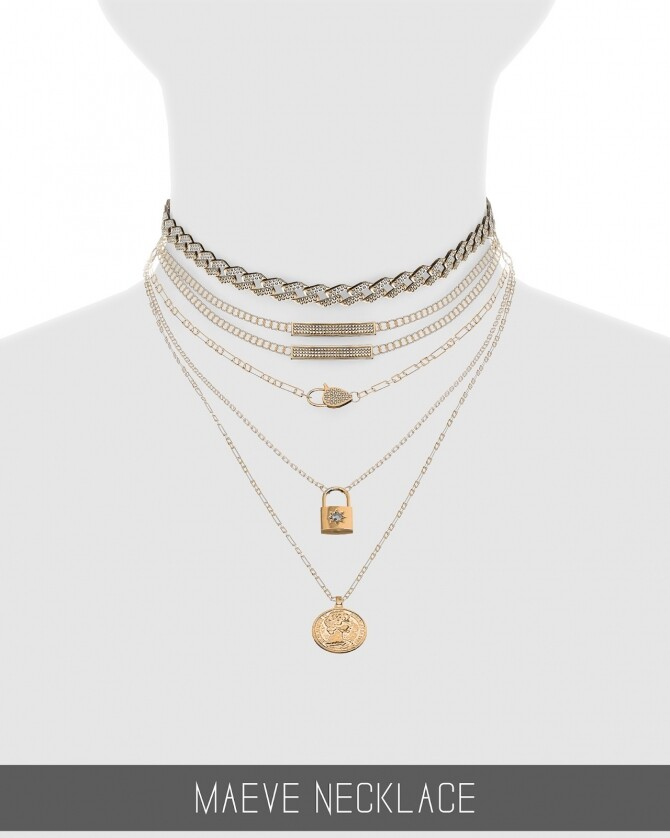 Sims 4 MAEVE NECKLACE at Simpliciaty