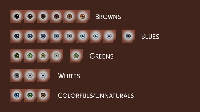 Sims 4 Maxis Match Contacts by littledica at Mod The Sims