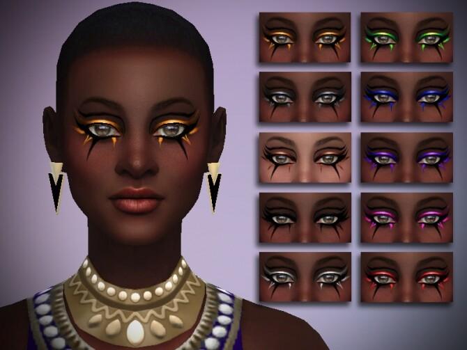 Sims 4 Metallic Eyeliner Nile by thaisherrera at TSR