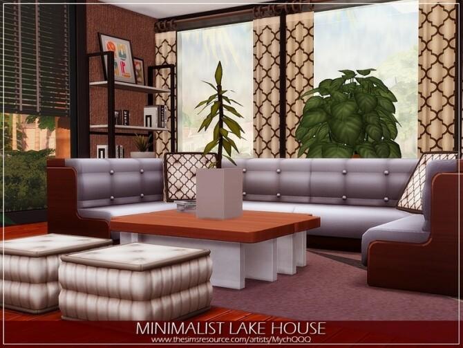Sims 4 Minimalist Lake House by MychQQQ at TSR