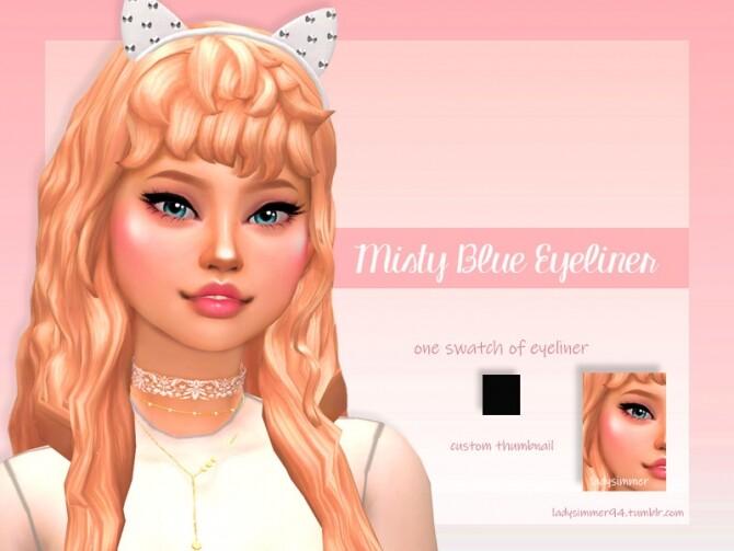 Misty Blue Eyeliner by LadySimmer94 at TSR image Misty Blue Eyeliner by LadySimmer94 670x503 Sims 4 Updates