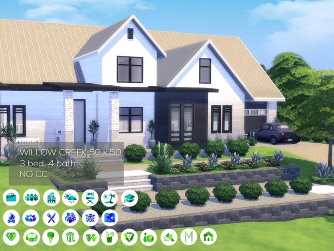 Sims 4 Modern Farmhouse Family Home by Summerr Plays at TSR