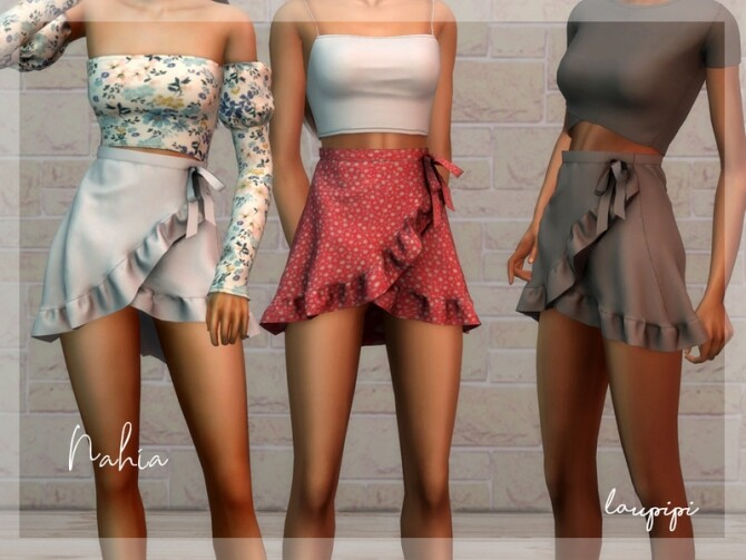 Nahia ruffle skirt by laupipi at TSR image Nahia ruffle skirt 670x503 Sims 4 Updates