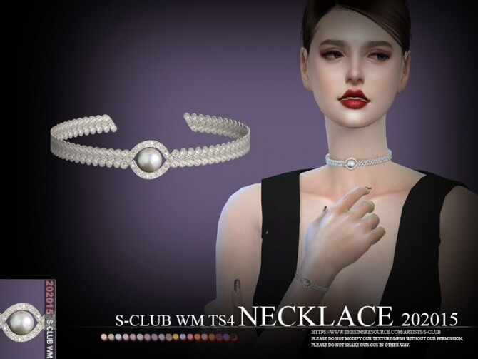 Necklace 202015 by S Club WM at TSR image Necklace 202015 by S Club WM 670x503 Sims 4 Updates