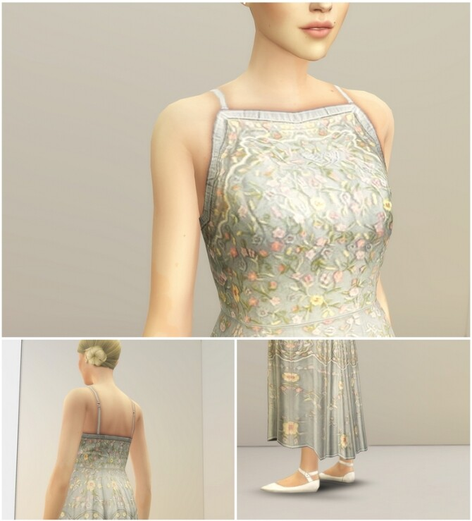 Pale Pastel Embroidered Tulle Gown at Rusty Nail image Pale Pastel Embroidered Tulle Gown by Rusty 4 670x739 Sims 4 Updates