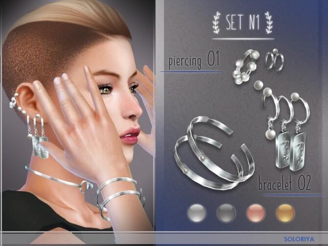 Accessories set N1 at Soloriya image Piercing Bracelet by Soloriya 2 670x503 Sims 4 Updates