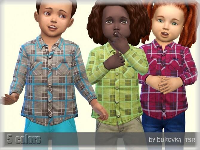 Sims 4 Plaid Shirt M/F by bukovka at TSR