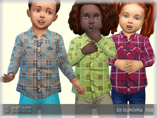Plaid Shirt M/F by bukovka at TSR image Plaid Shirt MF by bukovka 670x503 Sims 4 Updates