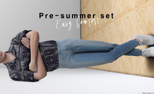 Pre summer set at Kiro image Pre summer male clothes set by Kiro 5 Sims 4 Updates