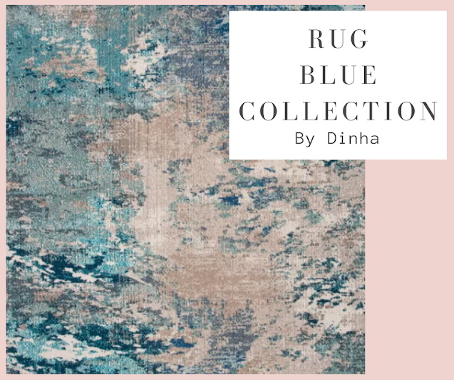 Sims 4 Rug Blue Collection at Dinha Gamer