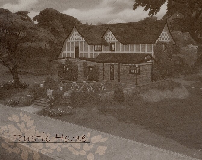 Rustic Home by ElvinGearMaster at Mod The Sims image Rustic Home by ElvinGearMaster 670x529 Sims 4 Updates