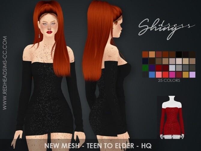 SHINY DRESS at REDHEADSIMS image SHINY DRESS 670x503 Sims 4 Updates