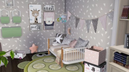 SINGLE MOM WITH HER TODDLER BEDROOM at Celinaccsims image SINGLE MOM WITH HER TODDLER BEDROOM 4 Sims 4 Updates