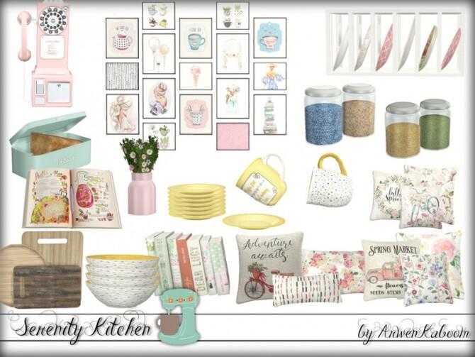 Sims 4 Serenity Kitchen Decorations by ArwenKaboom at TSR