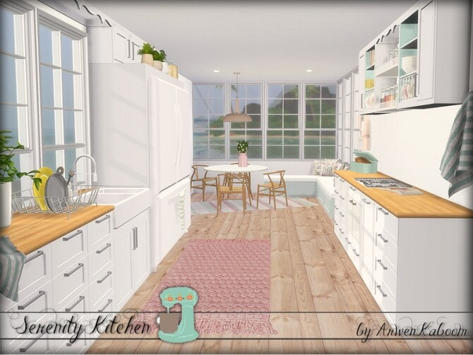 Serenity Kitchen by ArwenKaboom at TSR image Serenity Kitchen by ArwenKaboom 5 670x503 Sims 4 Updates