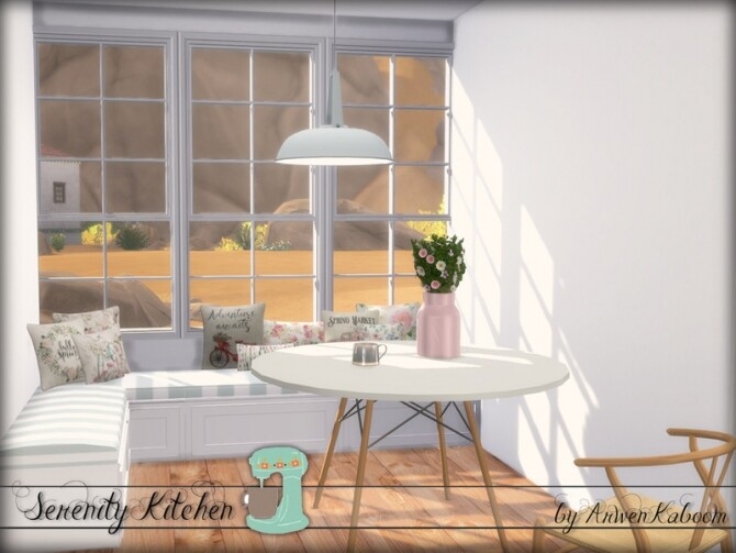 Serenity Kitchen by ArwenKaboom at TSR image Serenity Kitchen by ArwenKaboom table 6 670x503 Sims 4 Updates