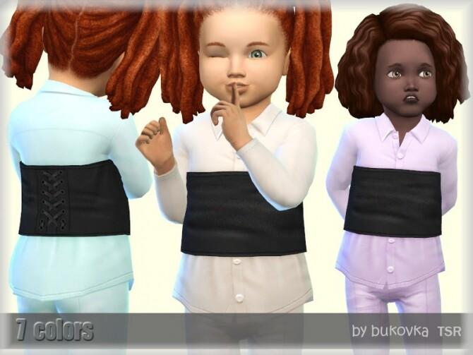 Sims 4 Shirt Corset by bukovka at TSR