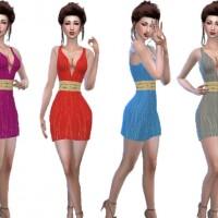 Silk-mini-dress-with-belt-by-TrudieOpp