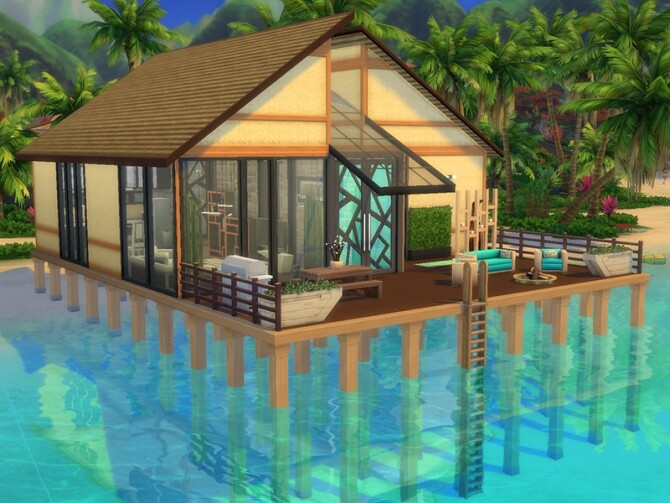 Sims 4 Simple Beach House by pagicence at TSR