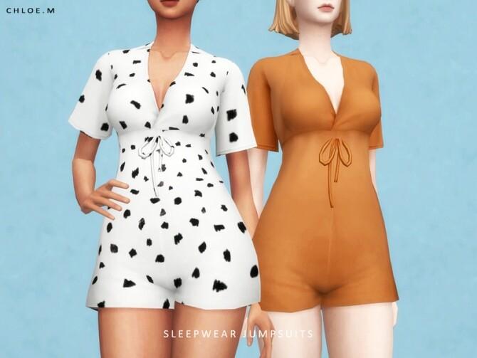 Sleepwear Jumpsuits by ChloeM at TSR image Sleepwear Jumpsuits by ChloeM 670x503 Sims 4 Updates