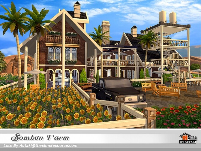 Sims 4 Sombun Farm House by autaki at TSR