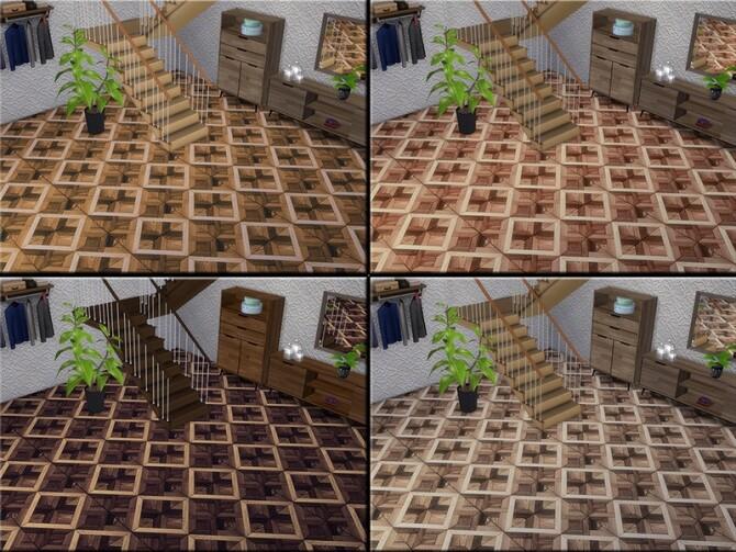 Sims 4 MB Warm Wood Square Parquet by matomibotaki at TSR