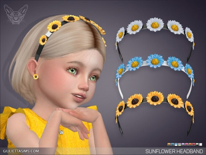 Sunflower Headband For Toddlers at Giulietta image Sunflower Headband For Toddlers by Giulietta Sims 670x503 Sims 4 Updates