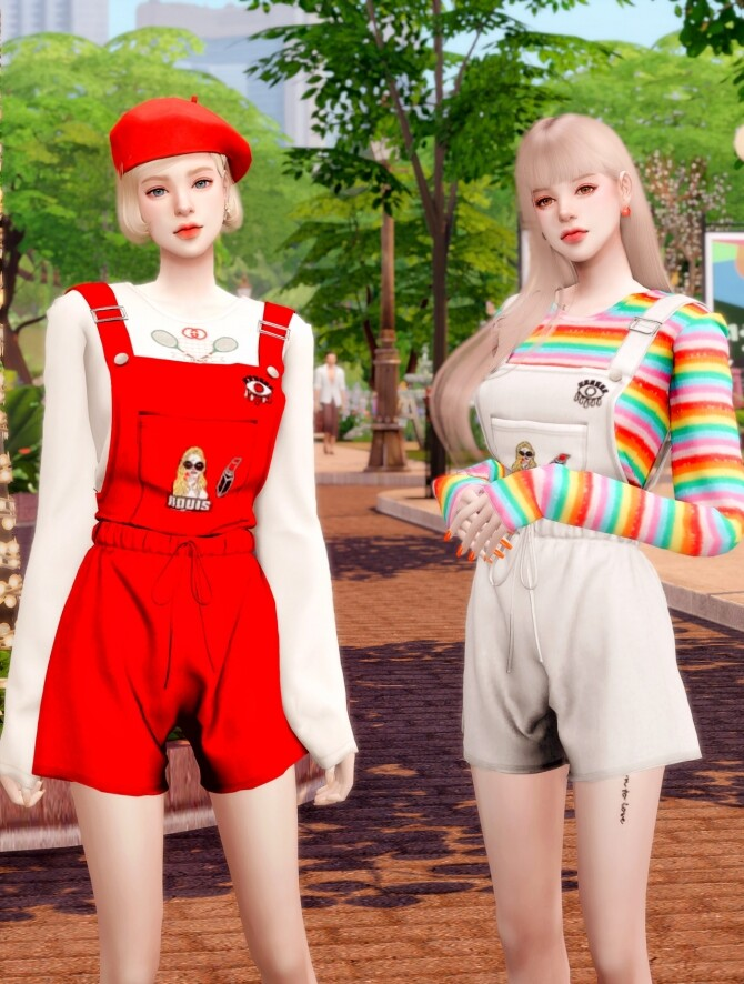 Suspenders Overall Jumpsuit at RIMINGs image Suspenders Overall Jumpsuit 3 670x886 Sims 4 Updates