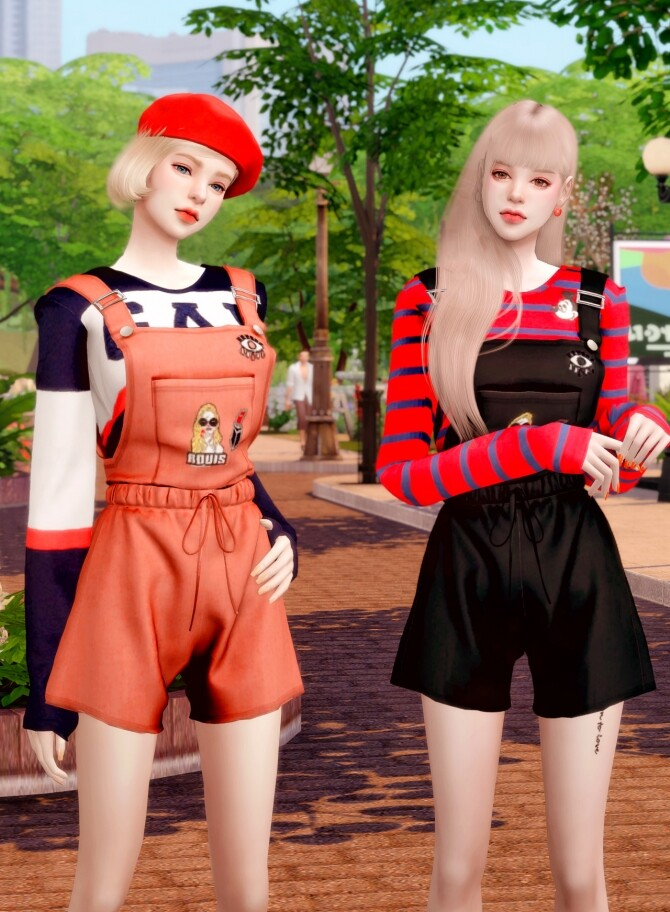 Suspenders Overall Jumpsuit at RIMINGs image Suspenders Overall Jumpsuit 4 670x912 Sims 4 Updates