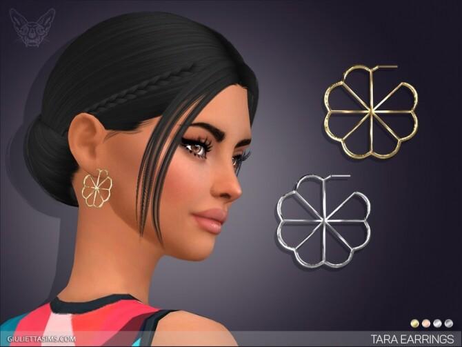 Sims 4 Tara Earrings by feyona at TSR