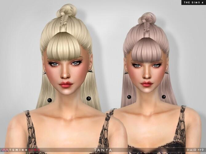 Sims 4 Tayna Hair 119 by TsminhSims at TSR