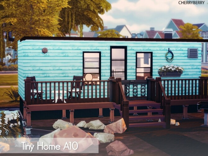 Tiny House A10 at Cherryberry image Tiny House A10 by Cherryberry 1 670x503 Sims 4 Updates