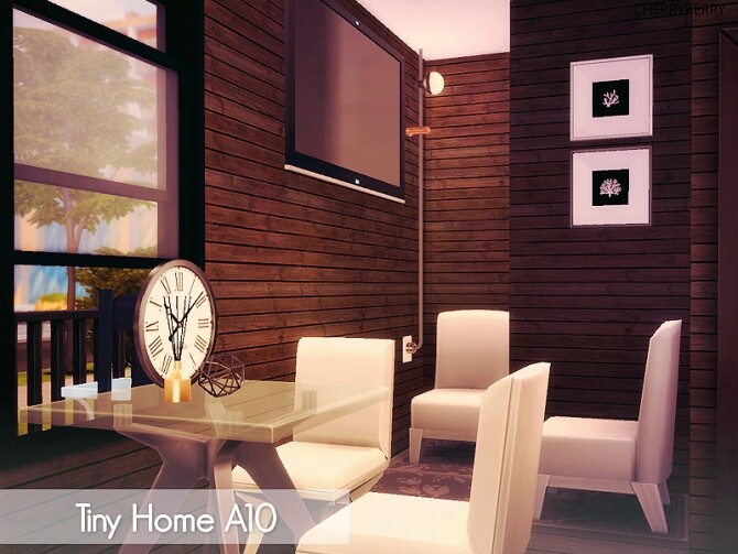 Tiny House A10 at Cherryberry image Tiny House A10 by Cherryberry 2 670x503 Sims 4 Updates