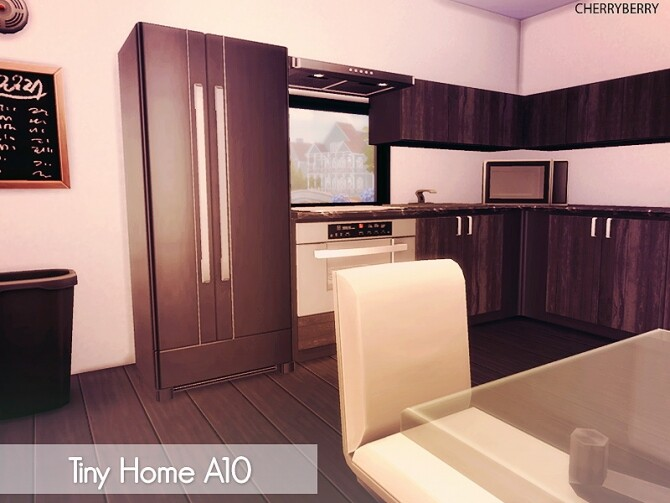 Tiny House A10 at Cherryberry image Tiny House A10 by Cherryberry 3 670x503 Sims 4 Updates