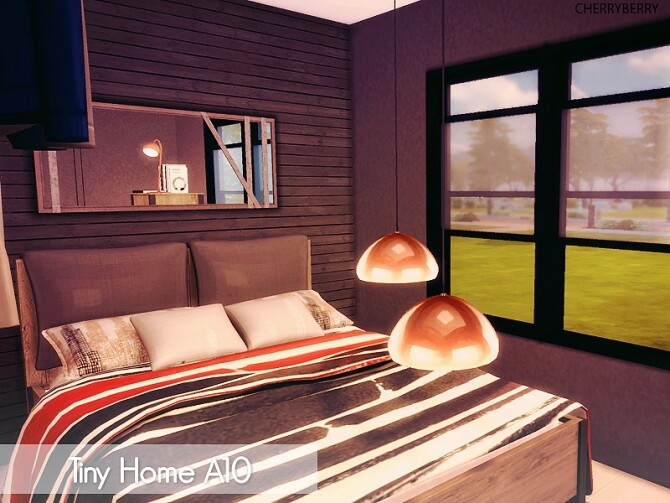 Tiny House A10 at Cherryberry image Tiny House A10 by Cherryberry 4 670x503 Sims 4 Updates