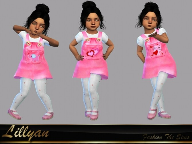 Toddler Bianca Dress by LYLLYAN at TSR image Toddler Bianca Dress by LYLLYAN 670x503 Sims 4 Updates