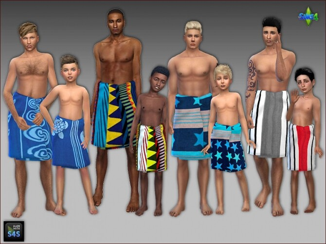 Towel wraps for men and boys by Mabra at Arte Della Vita image Towel wraps for men and boys by Mabra 1 670x503 Sims 4 Updates