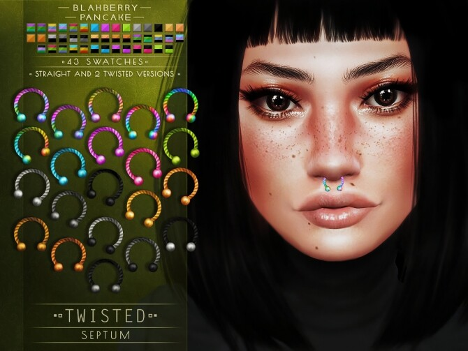 Twisted septums + nose & lip rings at Blahberry Pancake image Twisted septums nose lip rings 2 670x503 Sims 4 Updates
