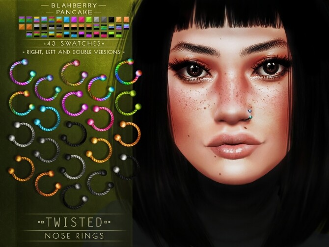 Twisted septums + nose & lip rings at Blahberry Pancake image Twisted septums nose lip rings 3 670x503 Sims 4 Updates