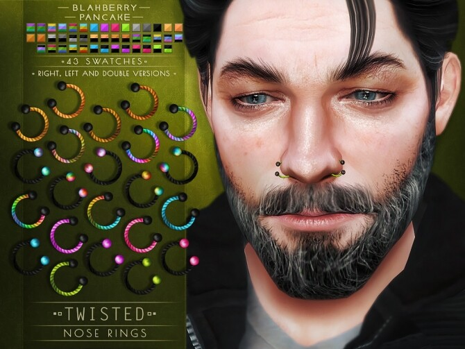 Twisted septums + nose & lip rings at Blahberry Pancake image Twisted septums nose lip rings 4 670x503 Sims 4 Updates