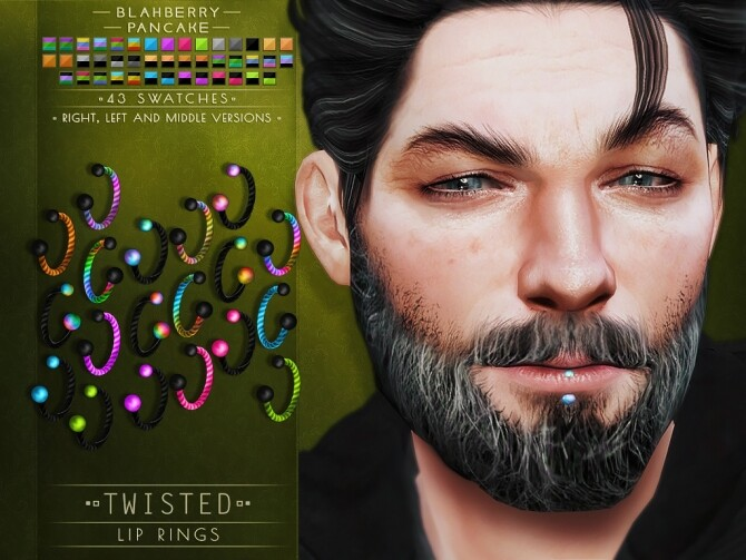Twisted septums + nose & lip rings at Blahberry Pancake image Twisted septums nose lip rings 7 670x503 Sims 4 Updates