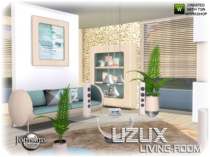 Uzux living room by jomsims at TSR image Uzux living room beige by jomsims 670x503 Sims 4 Updates