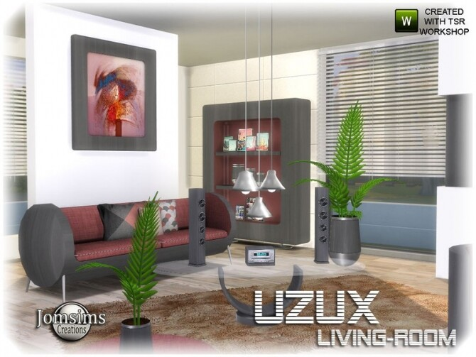Uzux living room by jomsims at TSR image Uzux living room gray by jomsims 670x503 Sims 4 Updates