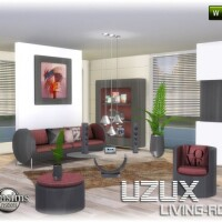 Uzux-living-room-red-by-jomsims