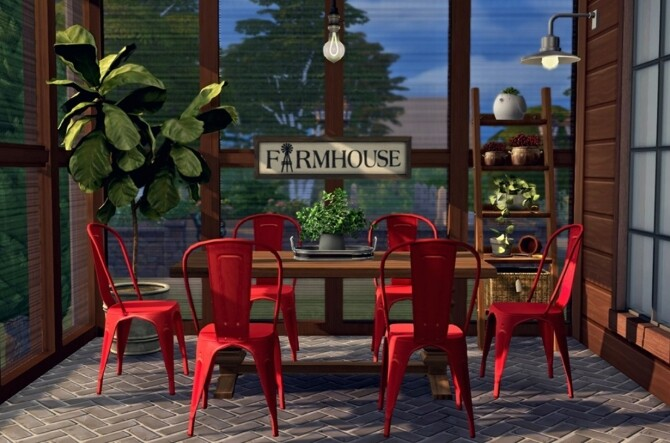 Sims 4 Vintage Farmhouse Dining by Sooky