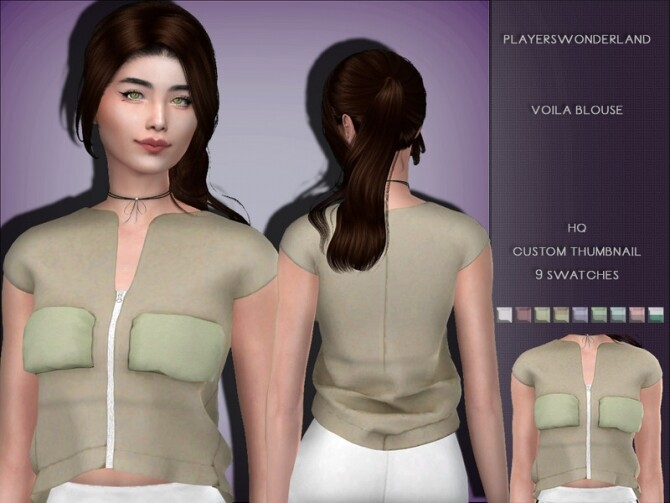 Voila Blouse by PlayersWonderland at TSR image Voila Blouse by PlayersWonderland 670x503 Sims 4 Updates